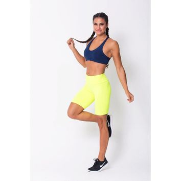 Neon Yellow Long Shorts