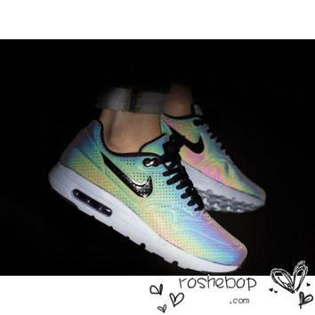 Nike Air Max 1 Ultra Moire QS 3M Womens Mens Grow In Dark
