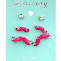 Mustache Earrings.  from Rose At Dawn