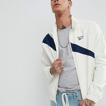 Reebok Vector Track Jacket In White CE4996 at asos.com