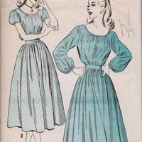 Vintage Sewing Pattern 1940, Gypsy Blouse Full Skirt, Advance 4783