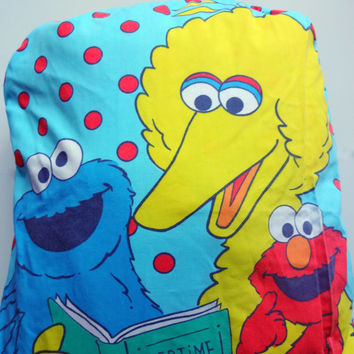 Vintage Sesame Street Sleeping Bag that Turns into Pillow 1980s