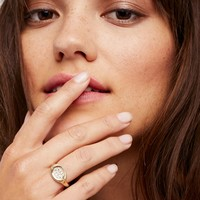 Free People 14k Spark Shield Sapphire Signet Ring