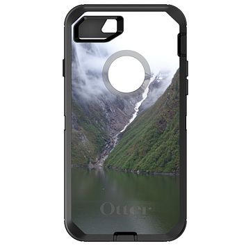 DistinctInk™ OtterBox Defender Series Case for Apple iPhone or Samsung Galaxy - Tracy Arm Fjord Waterfall