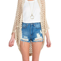 Holey Draped Cardigan
