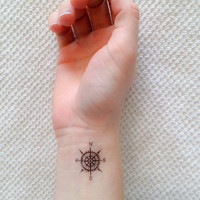 4 Compass Temporary Tattoos- SmashTat