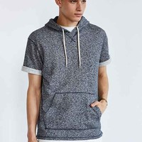 BDG Nep Short-Sleeve Pullover Hooded Sweatshirt