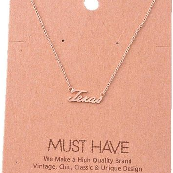 Must Have-Texas Necklace, Rose Gold