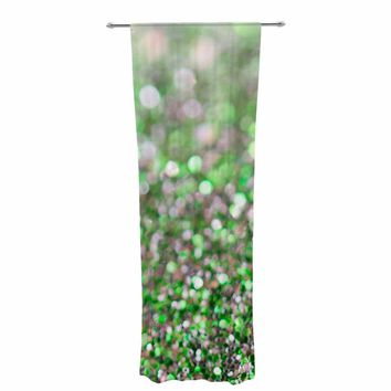 "Susan Sanders ""Green Glitter"" Green Photography Abstract Decorative Sheer Curtain"