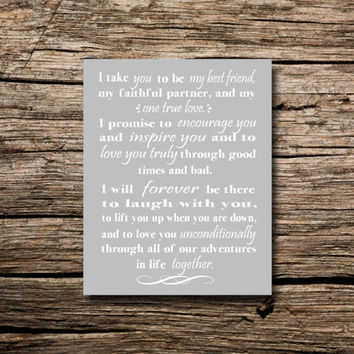 Vows - printable poster