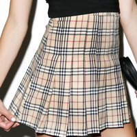 O Mighty Not So Plaid Tennis Skirt Brown