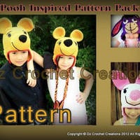 PDF Character Ear Flap Beanie Pattern Pack