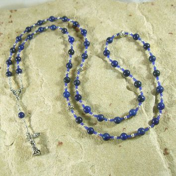 Nike Prayer Bead Necklace in Lapis Lazuli: Greek Goddess of Victory, in Competitions, Contests and Battles