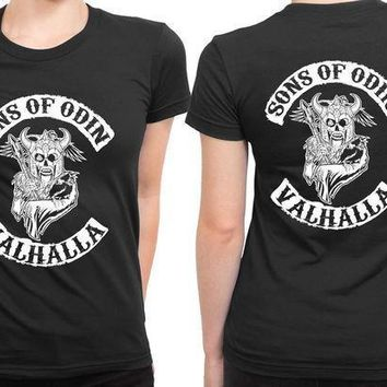 Marvel Sons Of Odin Valhalla 2 Sided Womens T Shirt