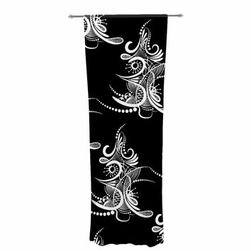 "Maria Bazarova ""Tree"" Vector Black Decorative Sheer Curtain"