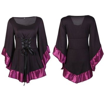 USA Medieval Women's Tops Vintage Renaissance Gothic Fancy Party Cosplay Costume