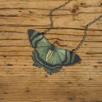 Mountain Lake Butterfly Necklace by mamaslittlebabies on Etsy