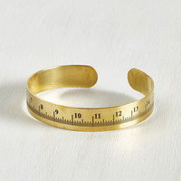 Quirky, Scholastic Measure of Finesse Bracelet by ModCloth