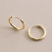 14K Plated Hinge Hoops