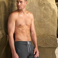 Charcoal Grey Designer Athletic Shorts - Sauvage