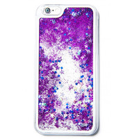 GLITTER WATERFALL PHONE CASE PURPLE