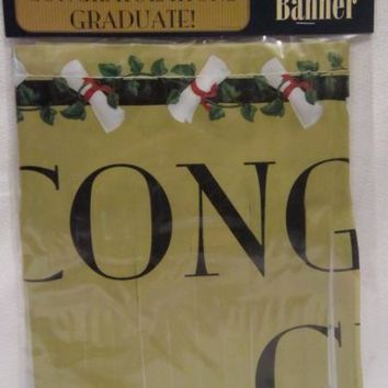 graduation classic fringe banner Case of 48