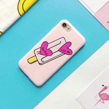 Heart Popsicle Phone Case Cover for Apple iPhone 7 7 Plus 5S 5 SE 6 6S 6 Plus 6S Plus + Nice gift box! LJ160914-001