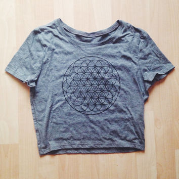 Flower of Life Crop Top Sacred Geometry Cropped Shirt Tumblr Brandy Melville