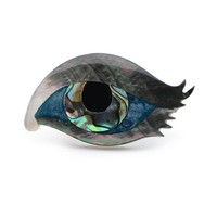 I See You Mother of Pearl Abalone Eye Brooch