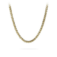 "20""- 36"" Mens Gold Stainless Steel Braided Wheat Chain Necklace"