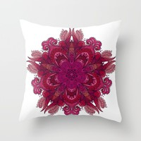 Indian Mandala 01 Throw Pillow by Aloke Design