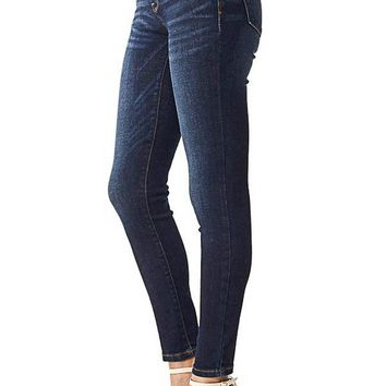 Midrise Dark Denim Skinny Jean
