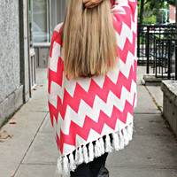 Lil' Hipster Oversized Cardi - Coral