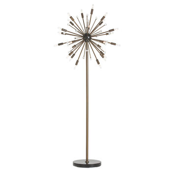 Imogene Floor Lamp, Vintage Brass, Floor Lamps