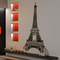 Vinyl Wall Decal Sticker Paris France Eiffel Tower #877