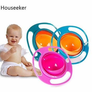 360 Rotate Universal Spill-proof Bowl Dishes Practical Design Children Baby Toy Baby Dishes Kids Dinner Plate