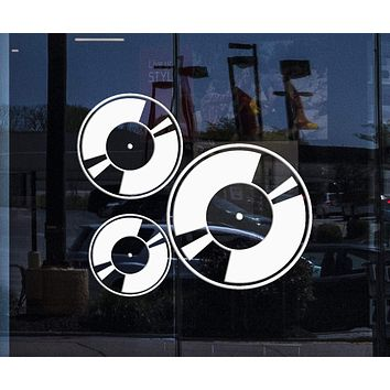 Window and Wall Stickers Vinyl Decal Vinyl Gramophone Records Music Cool Design (ig989w)