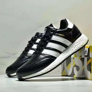 ADIDAS 2018 new trend versatile comfortable sports leather retro running shoes