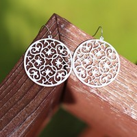 Hang With Me Earrings in Silver