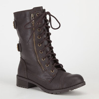 Soda Dome Womens Boots Brown  In Sizes