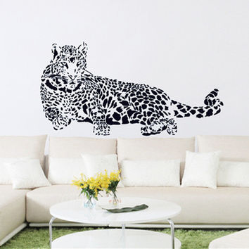 Black PVC Wall Stickers Cheetah Leopard 3D Removable Wall Decals Home Decor Stickers  SM6