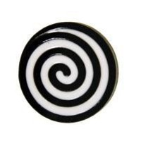 The Steven Shein Black and White Flat Laminate Spiral Ring