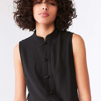 Silence + Noise Keri Band Collar Button-Down Tank Top - Urban Outfitters