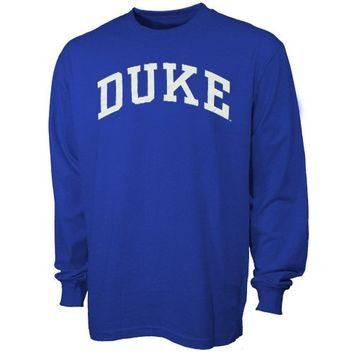 Duke Blue Devils Royal Blue Vertical Arch Long Sleeve T-shirt