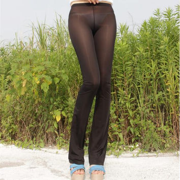 See Through Pants Women 2016 New Arrivals Ladies Transparent Pants Sexy Womens Trousers Free Shipping