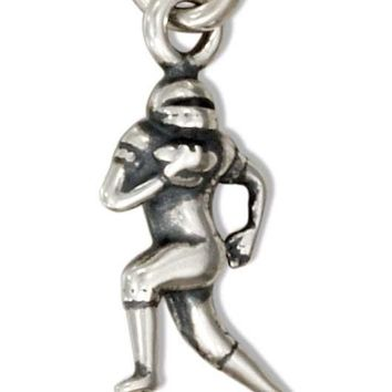 Sterling Silver Small 3d Running Football Player Charm