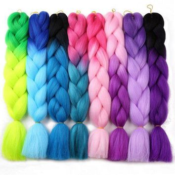 CREY78W Ali MoKoGoddess 60 Colors Ombre Kanekalon Braiding Hair 24 Inch 100g/piece Synthetic Crochet Hair Extensions Bulk Hair
