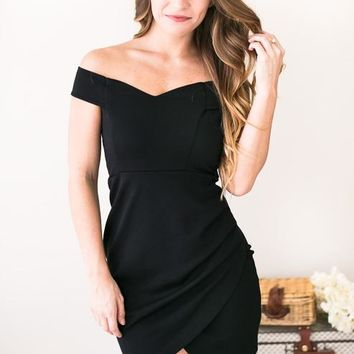 Embers and Envelopes Black Bodycon Dress