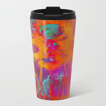 bright abstract bouquet Metal Travel Mug by clemm