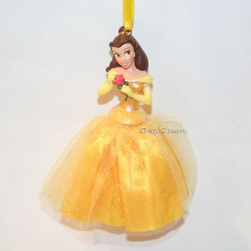 Licensed cool Disney Store Princess Belle Beauty & the Beast Christmas Holiday Ornament 2012